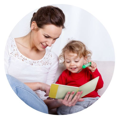 experienced nanny reading to a child